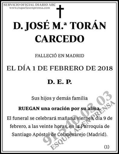 José M.ª Torán Carcedo